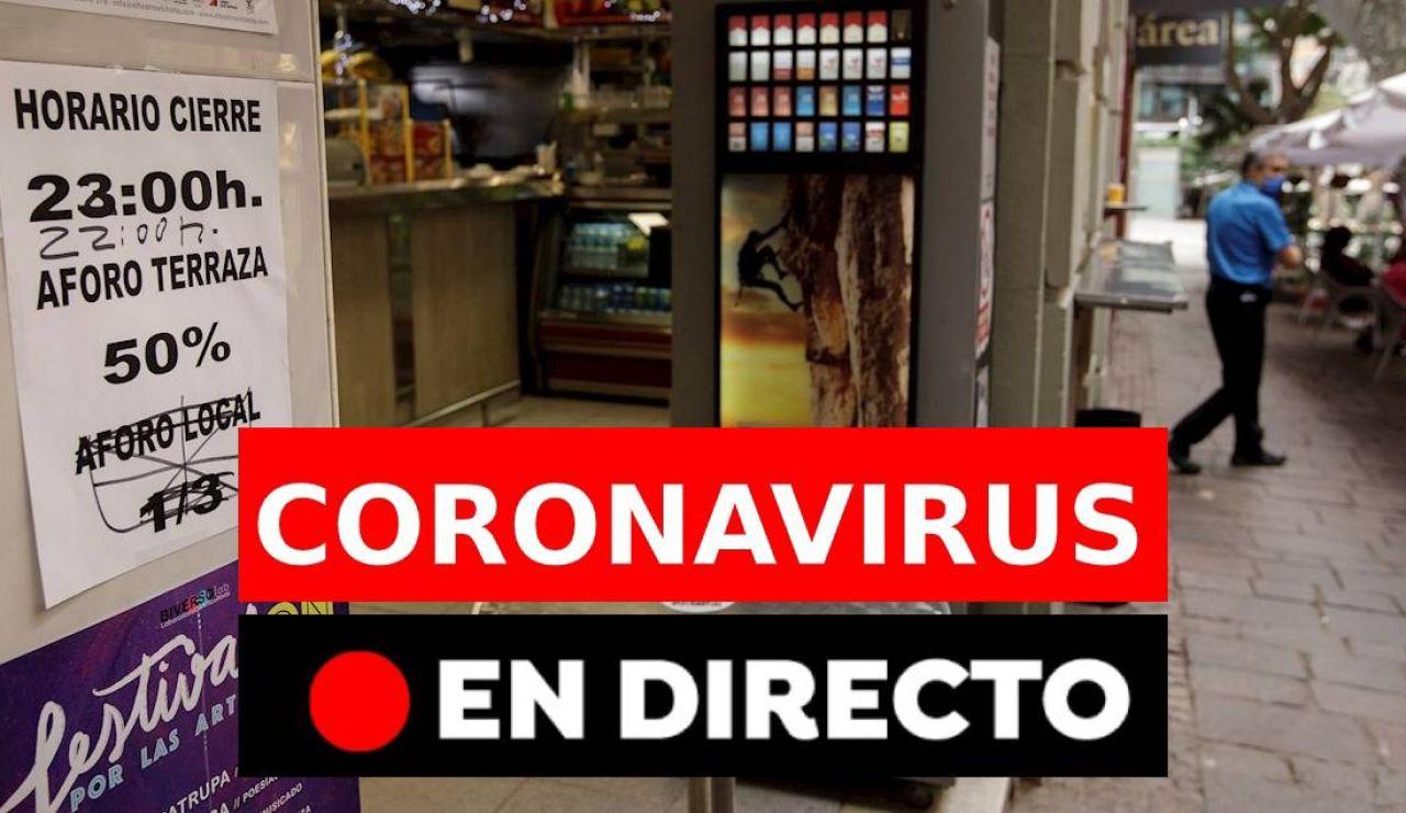 Coronavirus España hoy: Contagios, confinamientos en España, vacunas y medidas en Navidad en directo