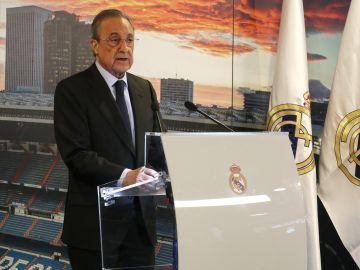 Florentino Pérez, durante un discurso
