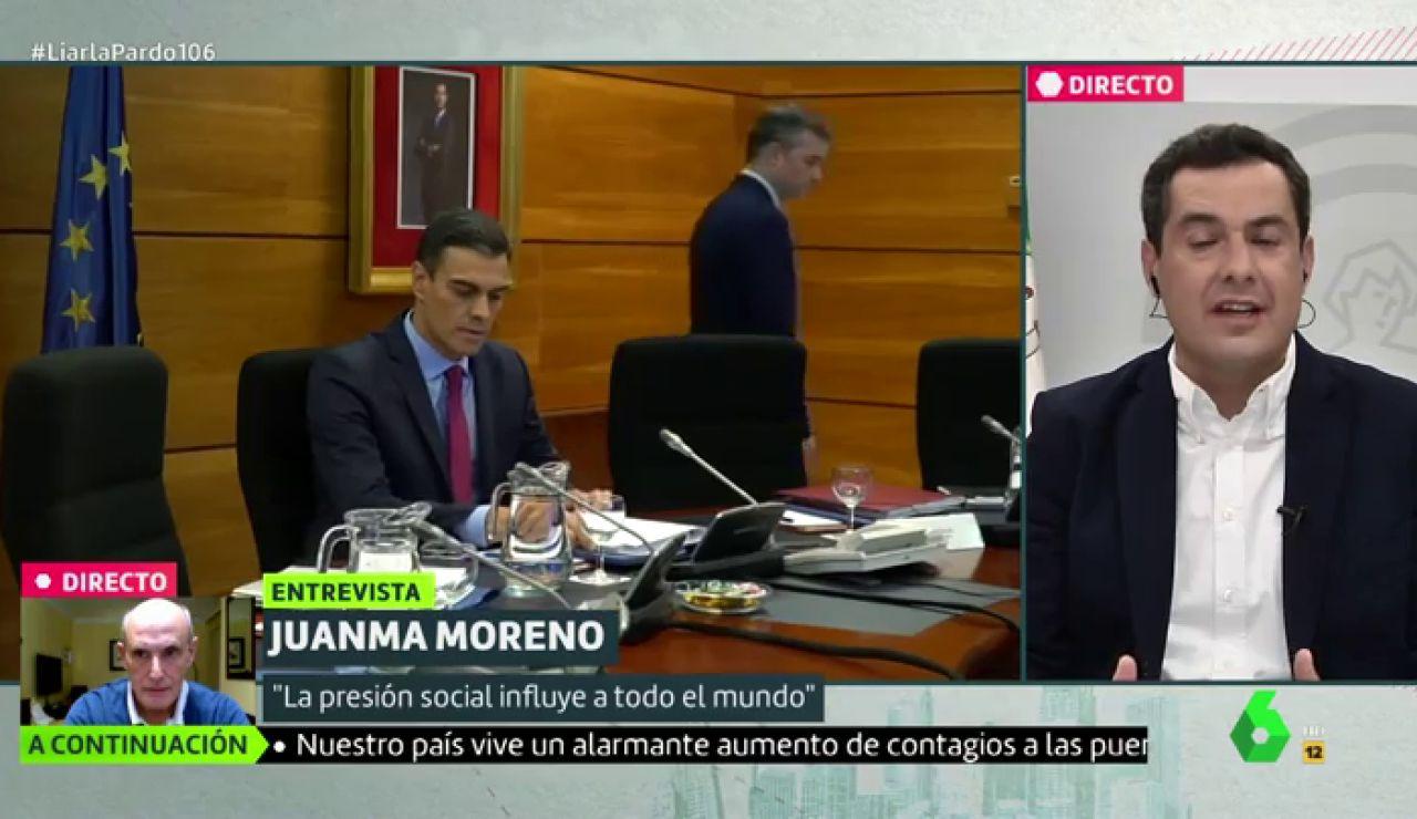 """Juanma Moreno: """"No tenemos un liderazgo claro, nítido y transparente del Gobierno de España"""""""