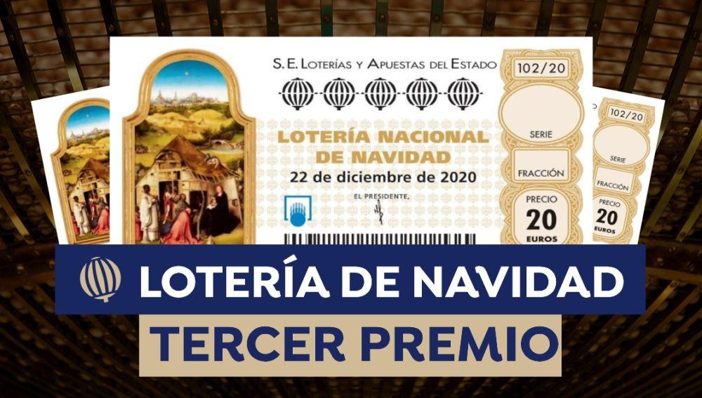 Cuánto es el tercer premio de la Lotería de Navidad 2020