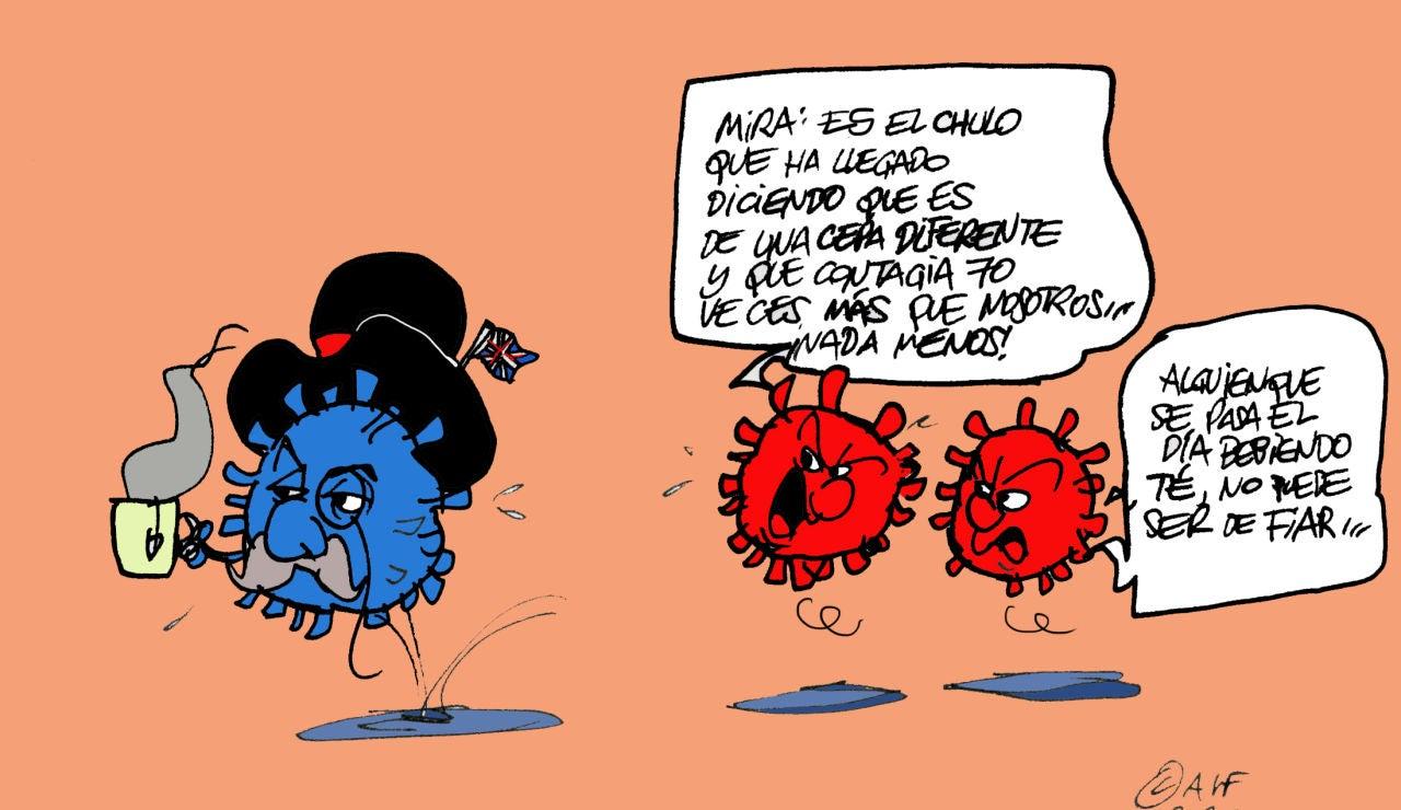 La nueva cepa del coronavirus, en la viñeta gráfica