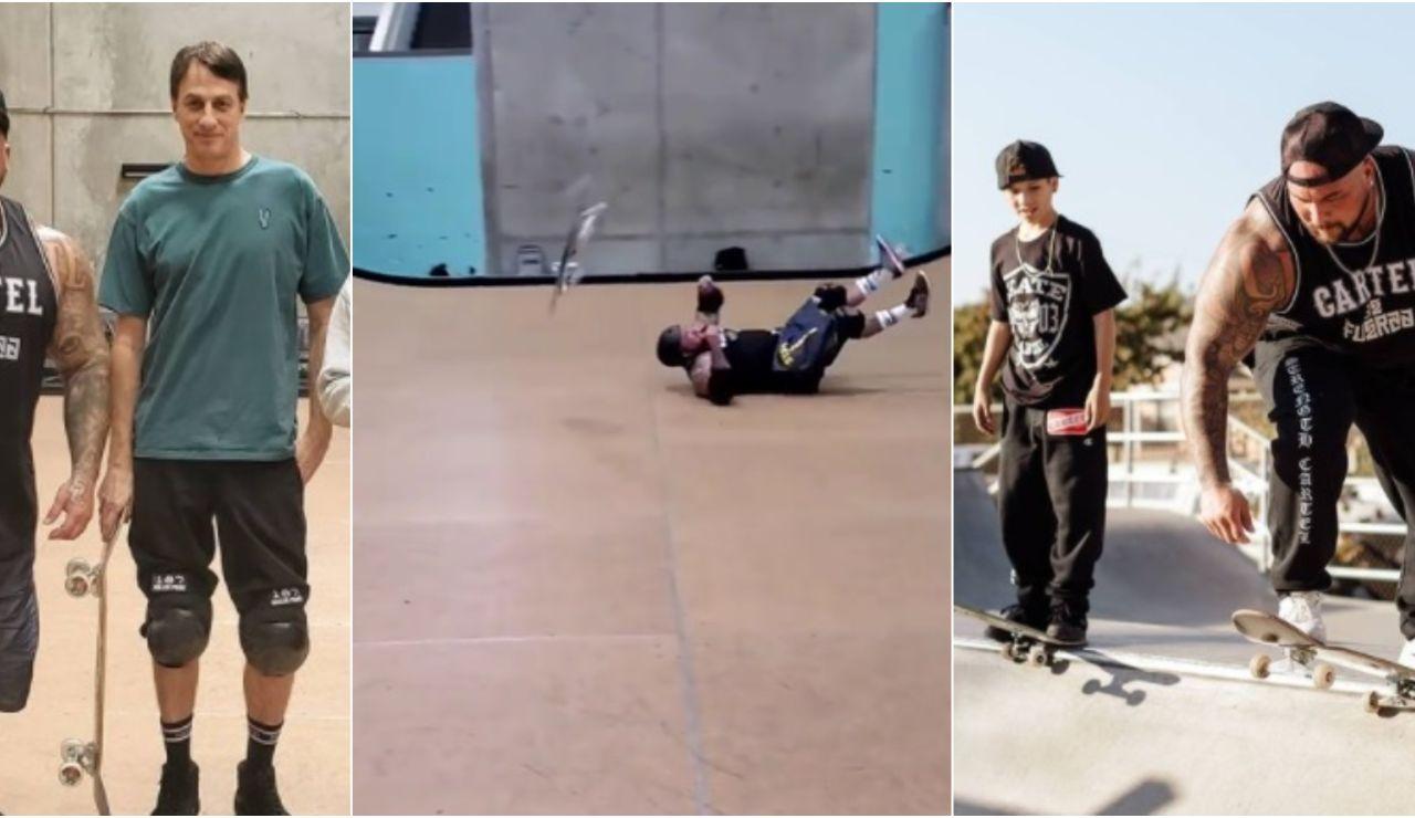 Big  Boy, el culturista que está aprendiendo a hacer skate