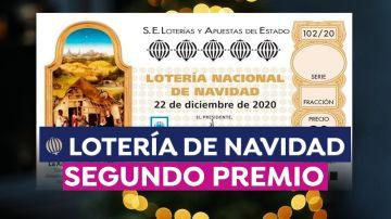 Cuánto dinero toca en el segundo premio de la Lotería de Navidad 2020