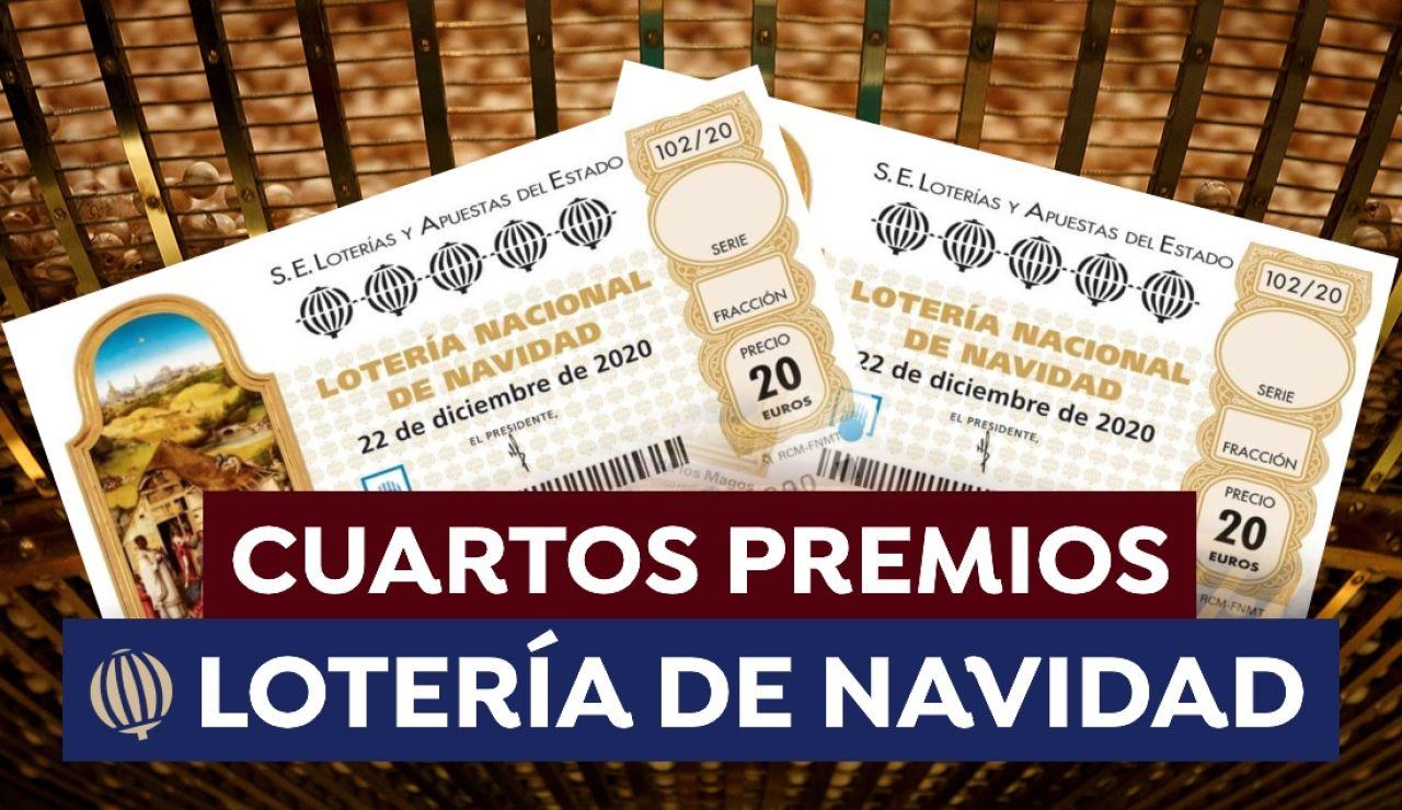 Cuartos premios de la Lotería de Navidad 2020: Comprobar número