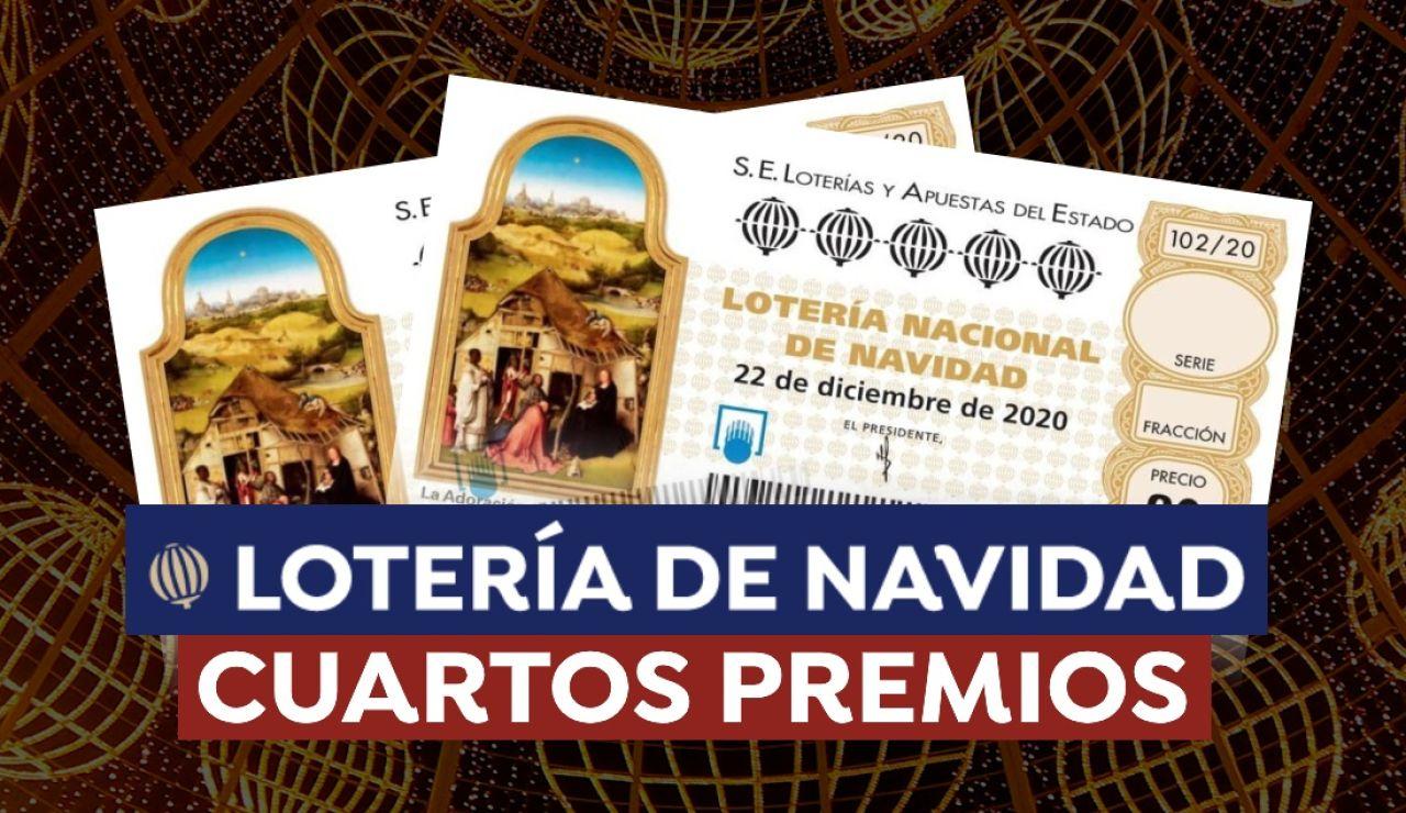 Cuánto dinero es cada cuarto premio de la Lotería de Navidad 2020