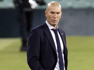Zidane, durante un partido