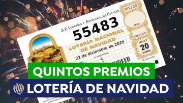 55.483, quinto premio de la Lotería de Navidad 2020