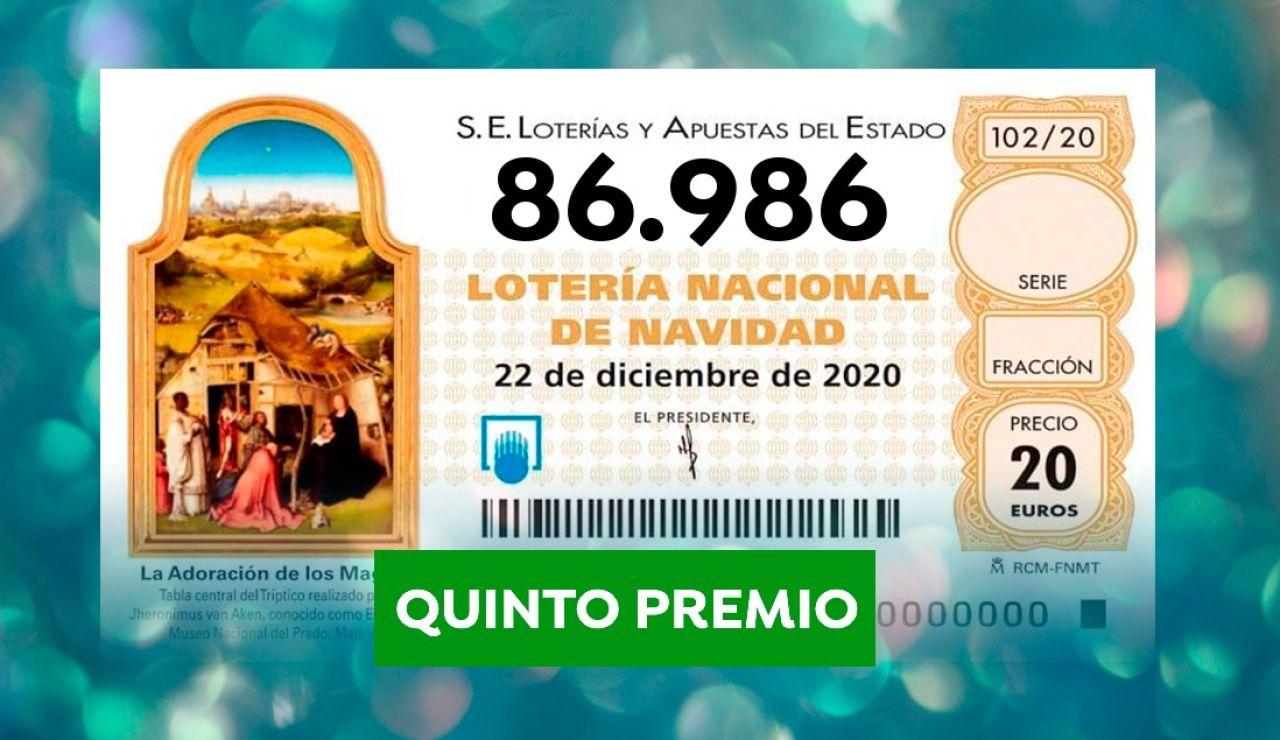 Quinto premio lotería navidad
