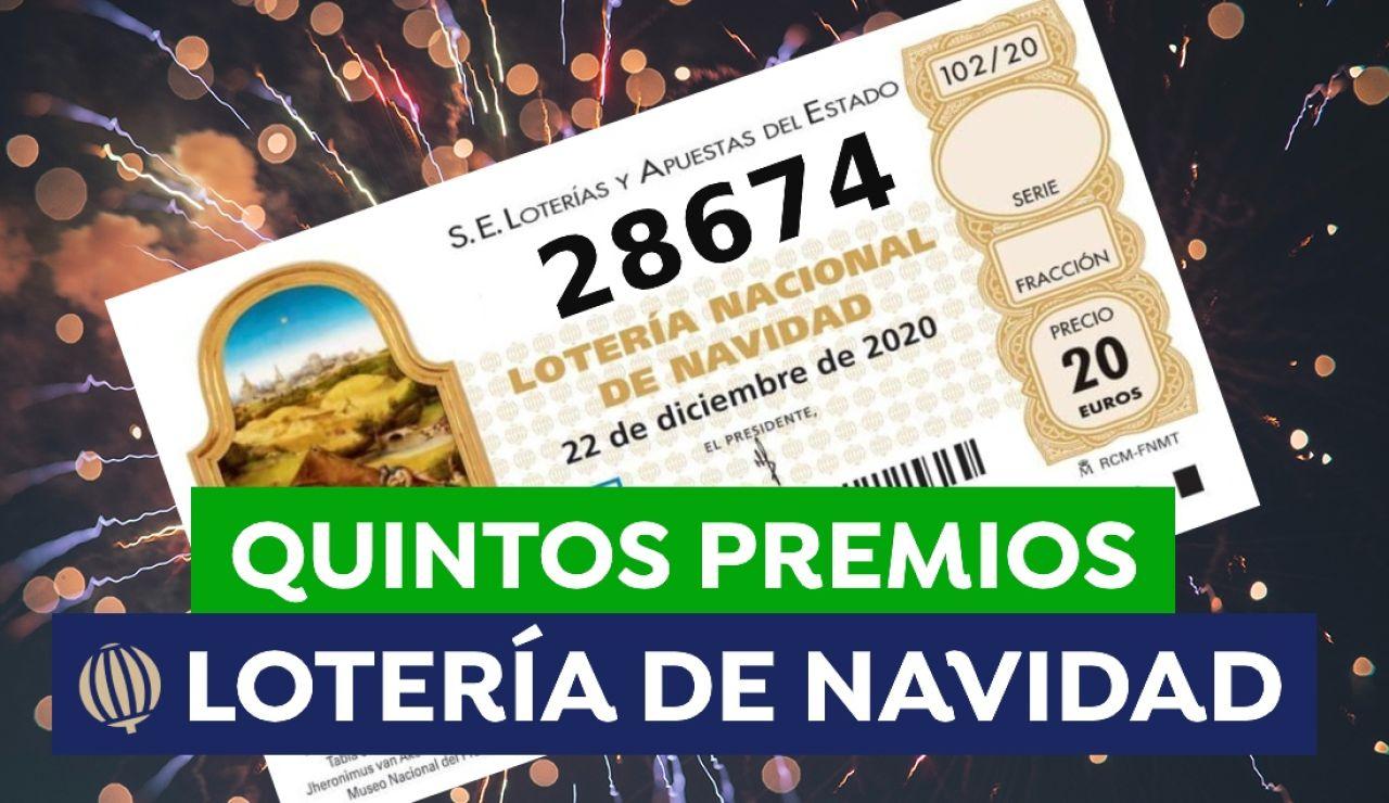 quinto premio Lotería de Navidad 2020