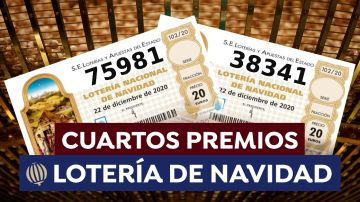 Cuartos premios de la Lotería de Navidad
