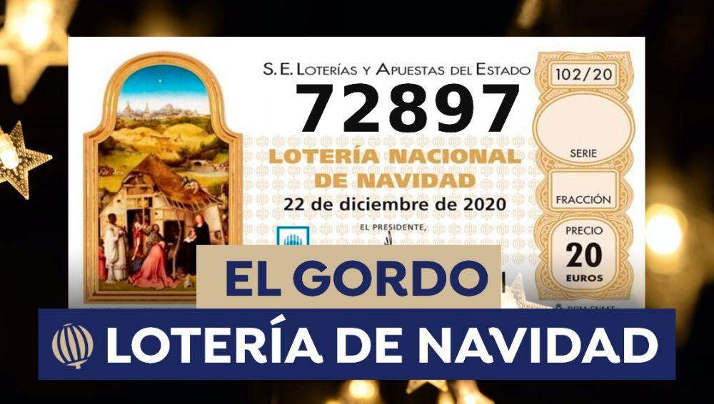 Lotería Navidad: 72.897, el Gordo de Navidad 2020