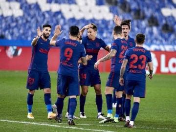 El Atlético vence a la Real Sociedad