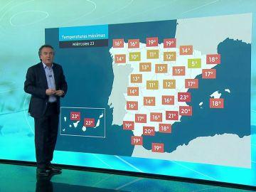 La previsión del tiempo hoy con Roberto Brasero