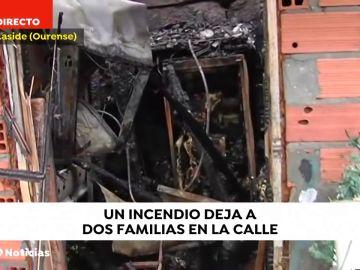 Dos familias sin hogar por un incendio en una casa de Maside (Ourense)