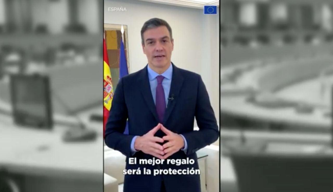 Mensaje de Pedro Sánchez