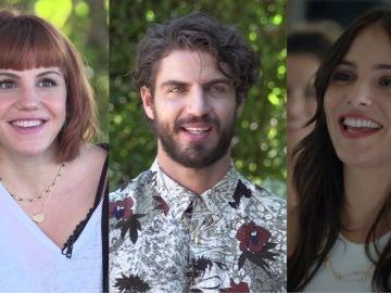 Angy Fernández, Maxi Iglesias y Andrea Duro