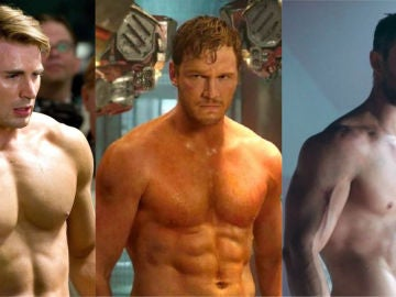 Chris Evans, Chris Pratt y Chirs Hemsworth