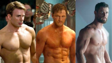 Chris Evans, Chris Pratt y Chirs Hemsworth