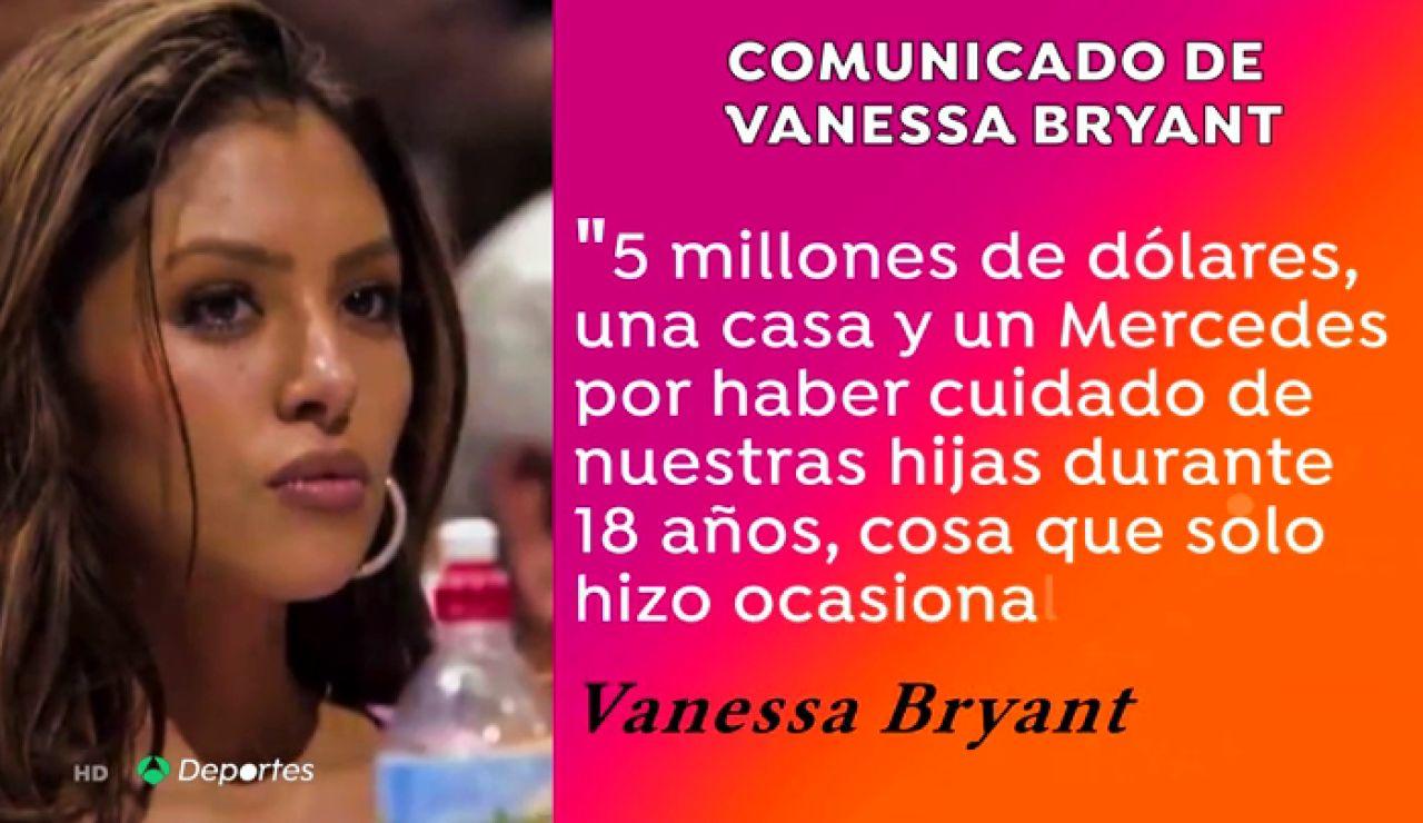 """Vanessa Bryant desvela que su madre le reclama """"cinco millones de dólares, una casa y un Mercedes"""""""
