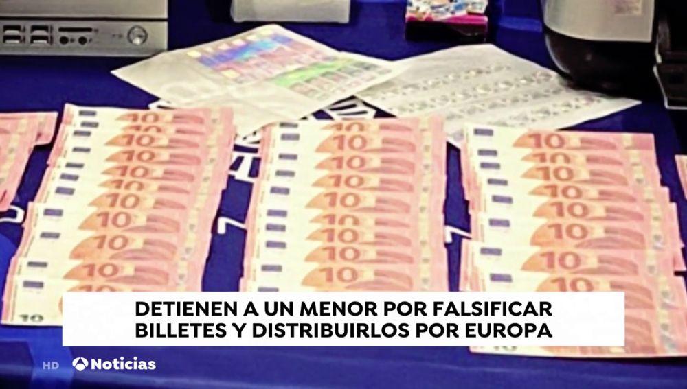 Detienen a un joven por falsificar billetes y venderlos por toda Europa