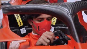 Carlos Sainz, en Maranello