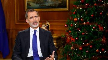 El rey Felipe VI pronuncia su tradicional discurso de Nochebuena, desde el Palacio de La Zarzuela