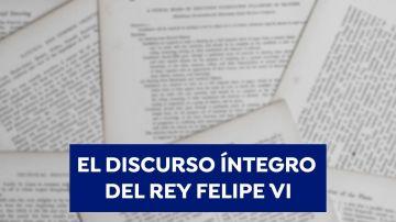 Discurso íntegro de Felipe VI