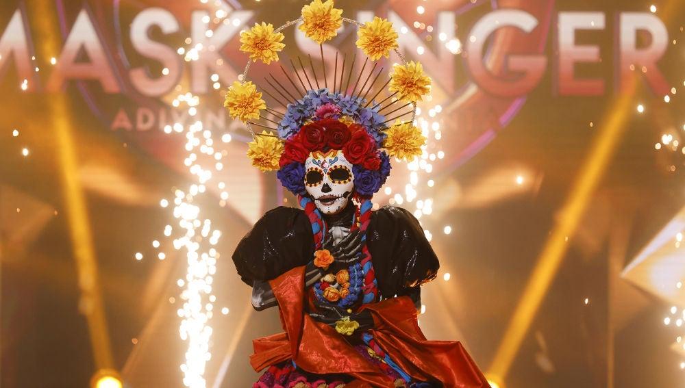 Así celebró Paz Vega (Catrina) llevarse la máscara dorada como ganadora de 'Mask Singer'