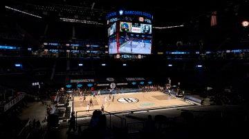 El interior del pabellón de los Brooklyn Nets