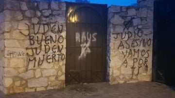 Pintadas antisemitas cementerio judío de Madrid