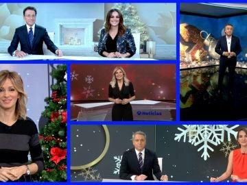 Los presentadores de Antena 3 Noticias felicitan la Navidad marcada por el coronavirus