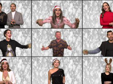 El original villancico de los concursante para felicitar la Navidad en 'Tu cara me suena'