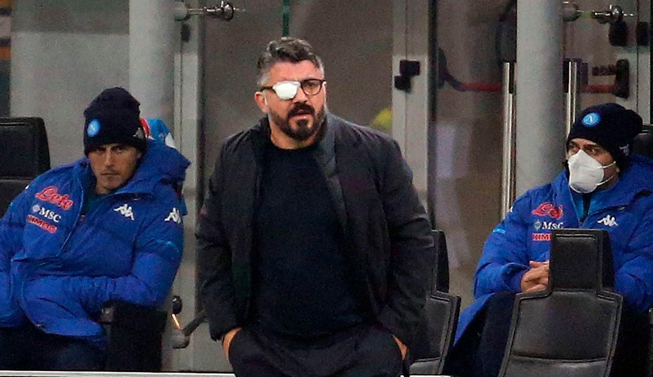 Gattuso, en un partido del Nápoles