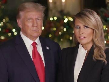 Donald Trump y Melania Trump, navidad 2020