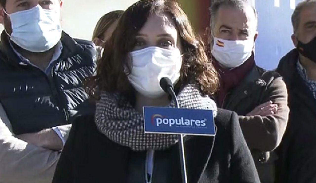 Ayuso responsabiliza al Gobierno de la entrada de la nueva cepa de coronavirus británica en Madrid