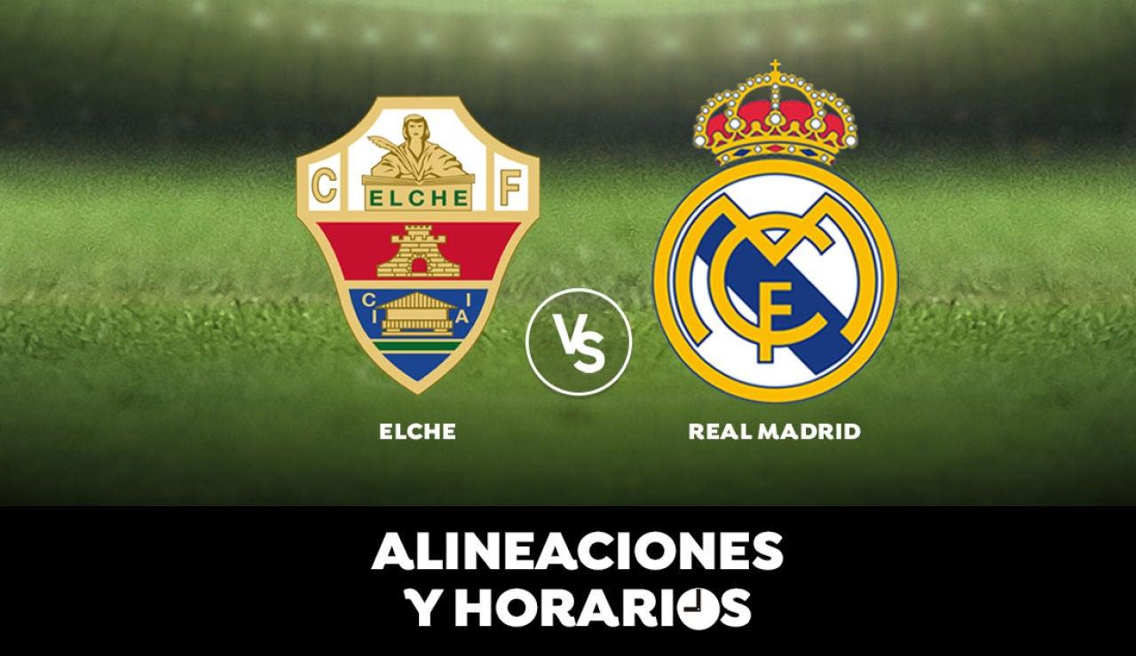 Elche - Real Madrid: Horario, alineaciones y dónde ver el partido de Liga Santander en directo