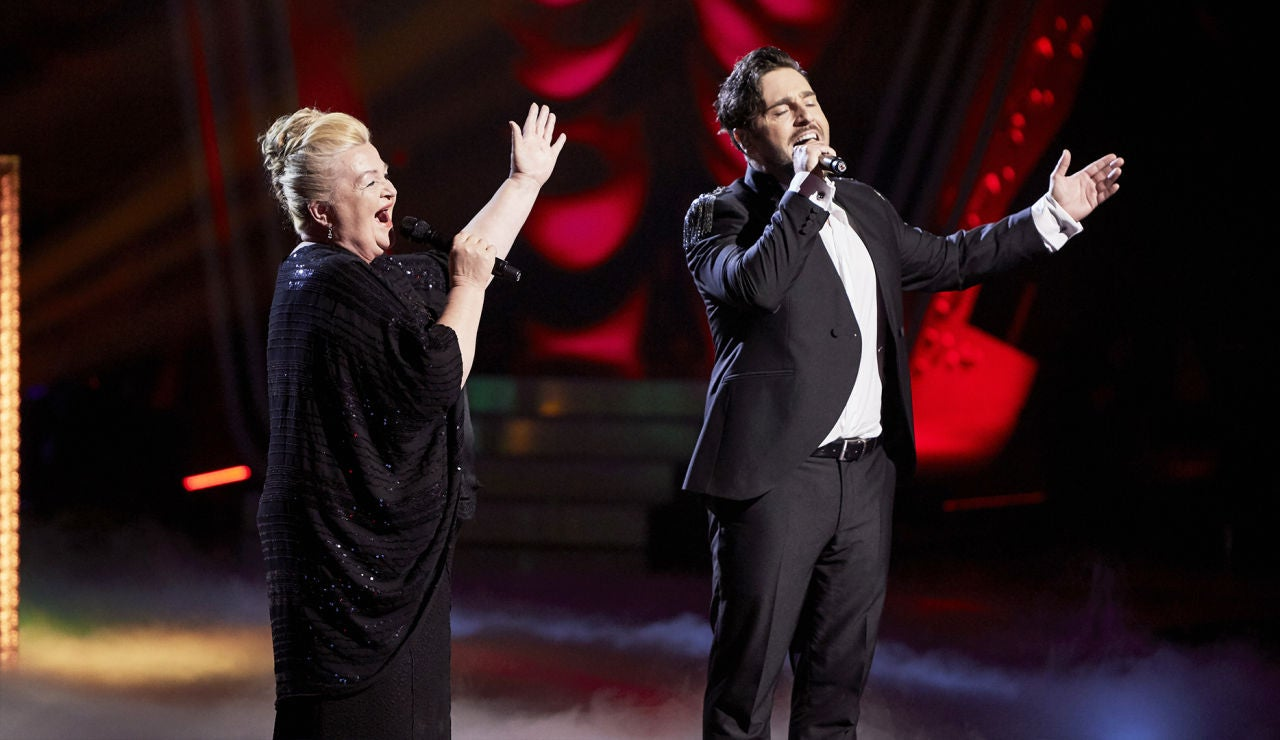David Bustamante y Naida Abanovich cantan 'La traviata' en la Gran Final de 'La Voz Senior'