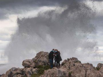 Imagen de los efectos de la borrasca Bella en Asturias