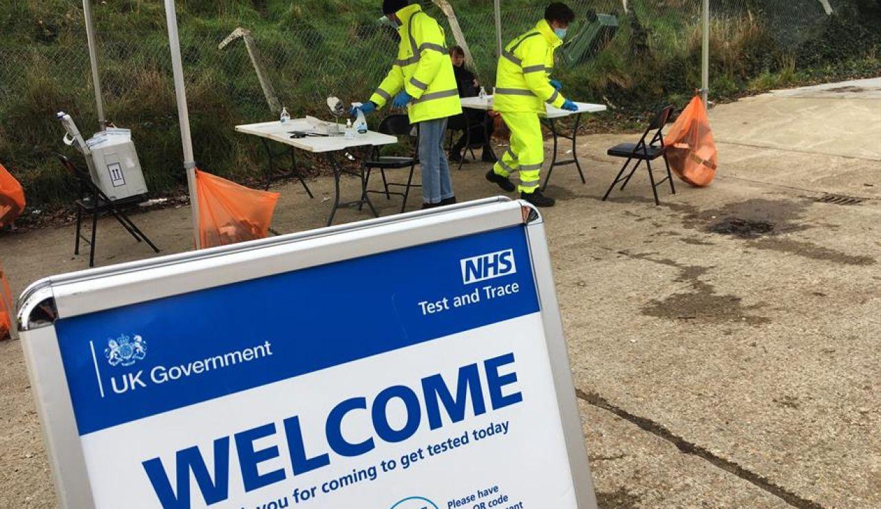 Test de coronavirus en Londres, Reino Unido