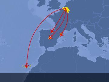 Vacunas desde Bruselas a España