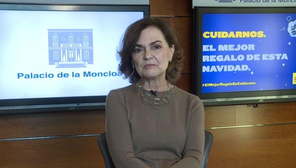 Carmen Calvo critica el informe de los fiscales sobre el indulto a los presos del 'procés'