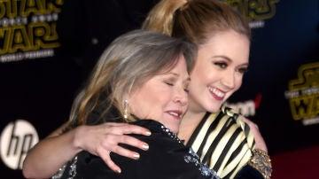 Billie Lourd junto a su madre Carrie Fisher
