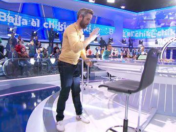 Neus Sanz alucina en 'La Pista' mientras Roberto Leal 'Baila el chiki-chiki'