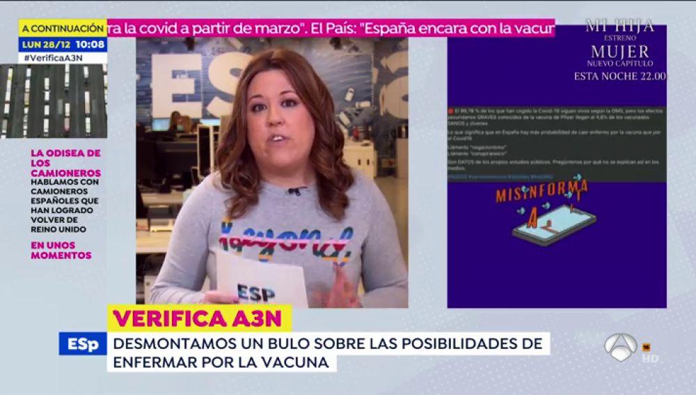 No, no enfermará más gente por la vacuna que por coronavirus en España