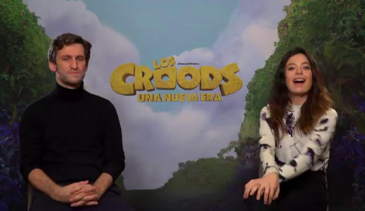 """Raúl Arévalo y Anna Castillo doblan a 'los Croods': """"Al 2021 le pedimos que todo vaya bastante mejor"""""""