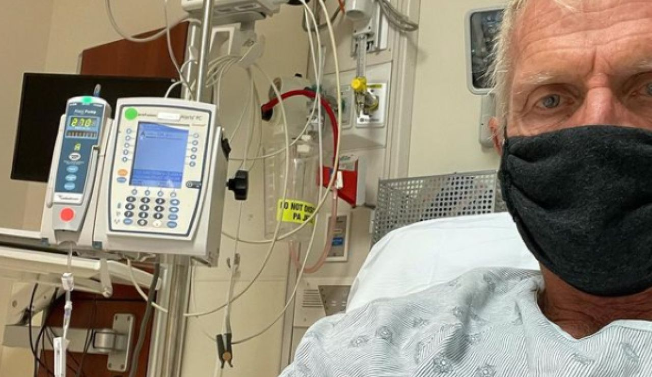 Greg Norman, en un hospital de Florida