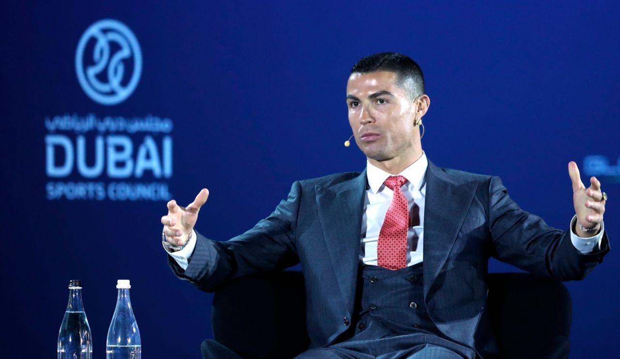 Cristiano Ronaldo en la entrega de premios de los Globe Soccer Awards