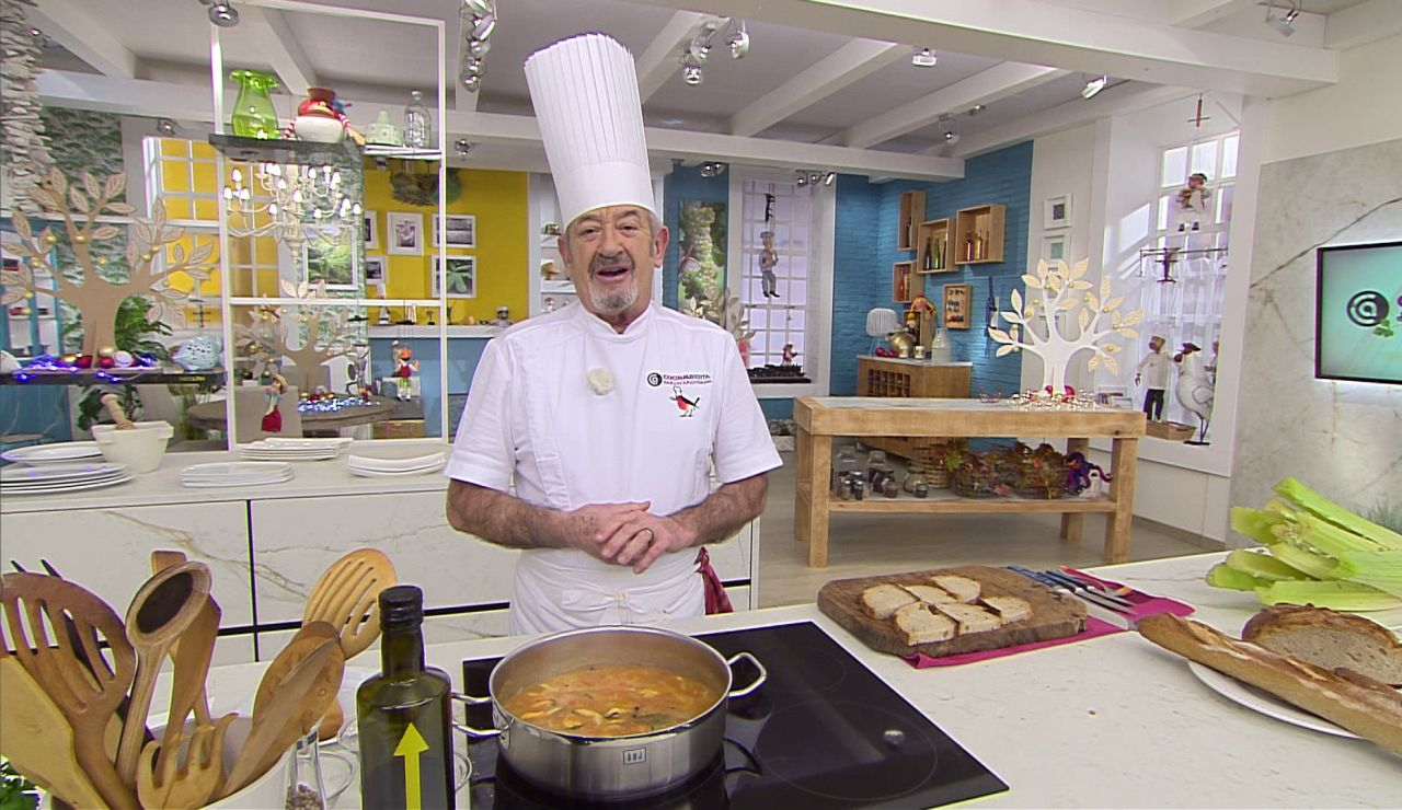 Karlos Arguiñano en el programa de Antena 3