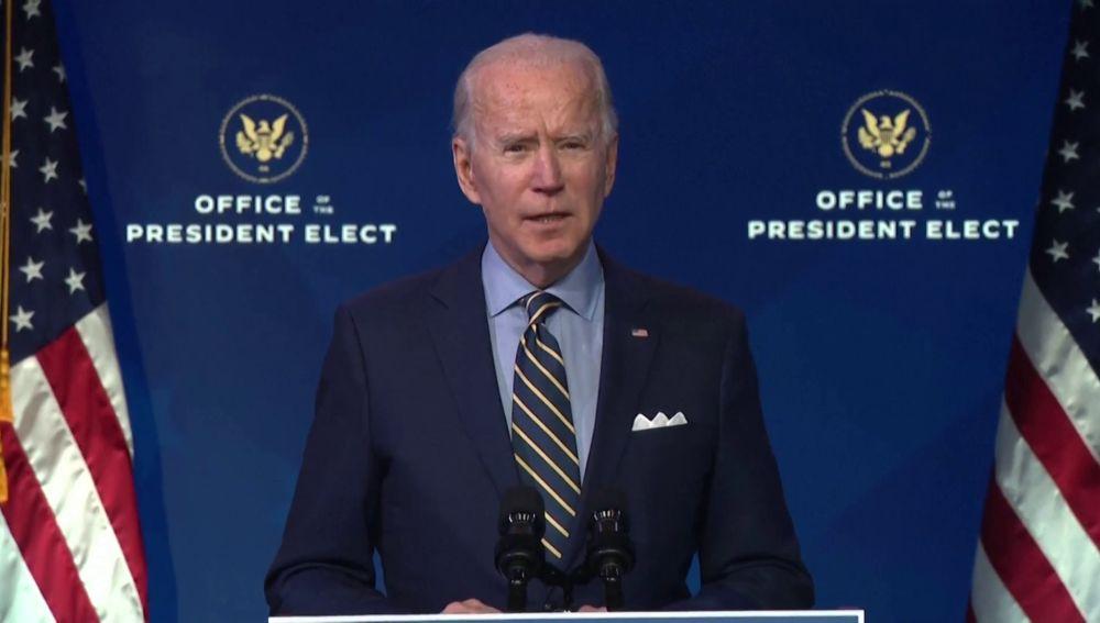"""Asalto al Congreso de los Estados Unidos: Joe Biden sobre la violencia en el Congreso de los Estados Unidos: """"Nuestra democracia está bajo un asalto sin precedentes"""""""
