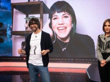 """¿Un milagro? Angy Fernández y Andrea Duro, """"ojipláticas"""" con el truco de Luis Piedrahita"""